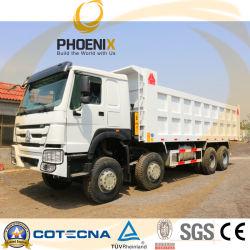شاحنة تفريغ Sinotruk 371HP HOWO، ذات استخدام معقول، سعة 8X4، مع حالة ممتازة لأفريقيا
