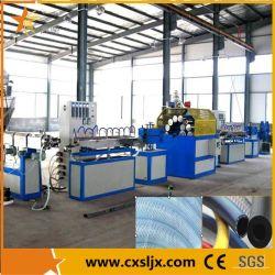 Hohe Kapazität Kurbelgehäuse-Belüftung verdrehte verstärkte Rohr-Plastikstrangpresßling-Line/PVC verstärkte Gefäß-Verdrängung-Maschine