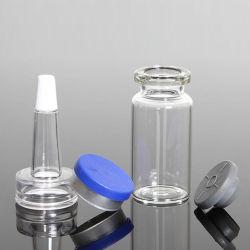 Crまたは非Crの帽子が付いているプラスチック液体の楕円形のびん