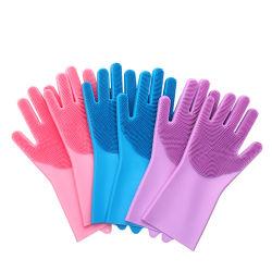 Cuisine de gros personnalisés en silicone résistant à la chaleur du caoutchouc de silicone Magic laveur de vaisselle de la brosse de lavage des gants de vaisselle