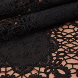 Gasa bordado negro de encaje tejido Confección