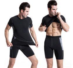 90% полиэстера 10% спандекс мужчин/джентльмен спортивных мероприятий на улице вплотную сухой подготовки дышащий короткие втулки футболка с ячеистой тренажерный зал работает футбол баскетбол фитнес