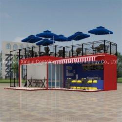 Caffetteria d'acciaio mobile prefabbricata del contenitore