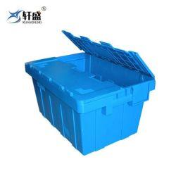 doos van de Totalisators van het Pakhuis en van de Logistiek van 600*400*340mm de Plastic Stapelbare Plastic Bewegende