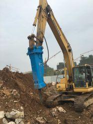La minería de alta frecuencia explorar rompedor hidráulico Rock rompiendo un martillo para picar piedras