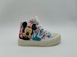 Einspritzung scherzt Schuhe Mickey weißen Form-Turnschuh für Jungen-und Mädchen-Fußbekleidung-High-Top Segeltuch-Schuhe