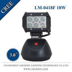 18 W Super Bright CREE Wiederaufladbares Blinkendes LED-Arbeitslicht