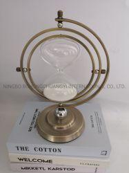 Globo Hourglasses rotativa de metal de alta qualidade com Novo Design Ampulheta decoração inicial do Temporizador Temporizador de Areia