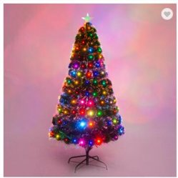 섬유 광학적인 /Indoor &Outer 훈장 크리스마스 훈장을%s 가진 밝 착색된 인공적인 나무