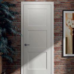 Un design classique Un panneau peint en blanc de style chambre à coucher les portes de secoueur