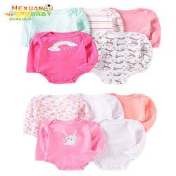 Grueso mayorista personalizadas manga larga 100% algodón niño Los niños bebés niñas niños Onesie Rompers Jumpsuit conjuntos de ropa
