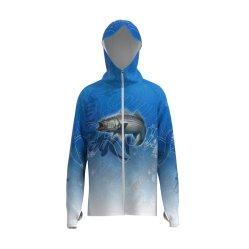 Dernière Quick Dry sublimé hommes personnalisé de la pêche à manchon long Hoodie UV