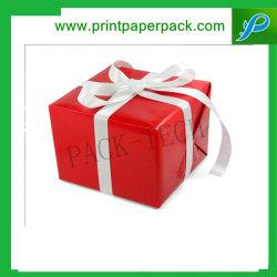 مجوهرات مخصصة رائعة عيد ميلاد المسيح حفلة هدايا صناديق كعكة مربع