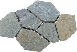 La Chine P014 de la nature de l'Ardoise Paving Stone beige/mur Stone/Flooring Net coller