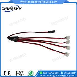 4 contacts Câble répartiteur de puissance de vidéosurveillance avec borne à vis (SP1-4H-2)