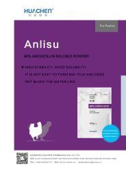 80 % de haute qualité de l'Amoxicilline Poudre Soluble BPF des médicaments vétérinaires