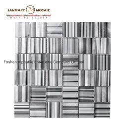 Стены оформлены 30x30см стеклянной мозаики модели серого цвета выглядят стекло наружного зеркала заднего вида Мозаичное оформление