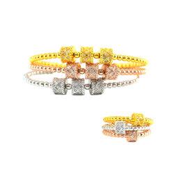 De gelukkige Juwelen van de Manier van de Armband van de Armbanden van de Decoratie van Zircon van de Parel van de Parel Draaibare