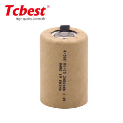Ni-CD 4/5SC 2400mAh batterie rechargeable 1,2V piles NiCd 4/5sous-piles C 1,2V batterie rechargeable avec des onglets