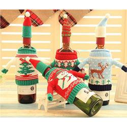 Decorações de Natal para a casa natal de garrafa de vinho Tampa Sacos Dom Xmas Home decorações de mesa