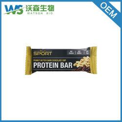 La barra de proteína de mantequilla de maní con trocitos de chocolate oscuro sin gluten 12 bares
