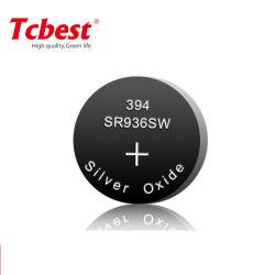 시계 건전지 Sr936 394 Sr 시리즈 은빛 산화물 건전지 Sr936 Sr1120 Sr1130 Sr43 Sr44 짜개진 조각 Oxider 단추 동전 세포 건전지