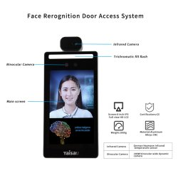 Termómetro de ia máquina de presenças Terminal Automático do Sistema de Controle de acesso do scanner térmico 3D corpo da câmera de reconhecimento facial