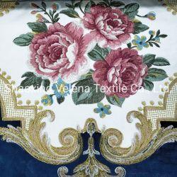 Nouveau mode de polyester velours coupé haut de gamme / Rotana avec broderie canapé Sellerie tissu textile tissé pour meubles