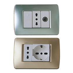 Fábrica de la serie el interruptor de pared Italia Venta caliente