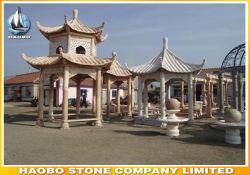 Granit chinois piscine Gazebo avec la sculpture