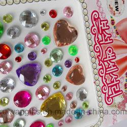 Bling Estrás pegatinas, Pegatina de diamantes de cristal para teléfono móvil