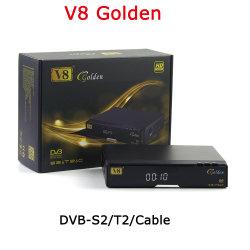 V8 de Gouden dvb-S2 Steun Cccam Powervu Biss van de Ontvanger van T2 C Satelliet via de Vastgestelde Hoogste Doos van de Dongle WiFi