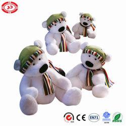 Eisbär, der netter Plüsch weiches angefülltes CER Spielzeug sitzt