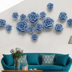 Décorations murales ornements de chambre à la main fleurs en céramique pour la décoration d'accueil