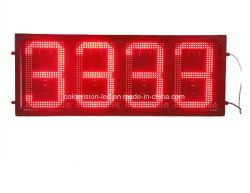 Doppeltes versah 12inch des Rot-88.88 Gaspreis-Zeichen der Tankstelle-LED mit Seiten