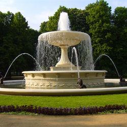 Großer im Freien weißer Marmorsteingarten-Wasser-Brunnen mit Potenziometern