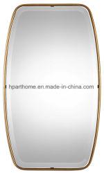 Comprimento total de ferro Ouro antigo estilo compacto decoração Espelho de Metal