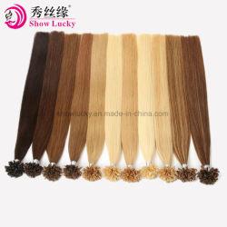 Meilleures ventes de 100 % de l'homme brésilien vierge Stick la kératine des cheveux Remy Extension droite U I Astuce cheveux Ongles