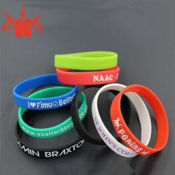 Promoção do desporto dons banda de silicone com logotipo de marca personalizada