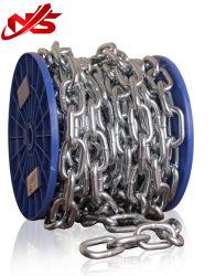 Ordinário galvanizado Aço doce cadeia de Link na Caixa de papel da embalagem