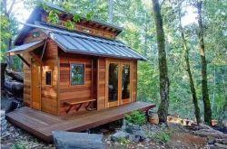 Hermosa casa de madera de Cedro Rojo, la casa prefabricada