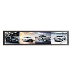 Haute qualité barre étirée de 28 pouces écran LCD pour affichage de publicité avec prix de gros