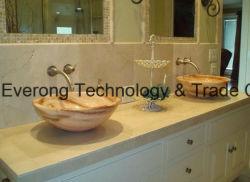Onyx/granit/Quartz/acrylique/artificiel/Céramique/Art Pierre du bassin du dissipateur de lavage pour salle de bains/Cuisine/comptoir (blanc/noir/gris/argent/rouge/bleu/vert)
