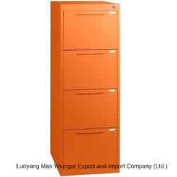 Muebles de oficina Vertical de acero laminado en frío la presentación de 4 cajones armario con tecla de bloqueo .