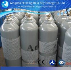 Cilindros de acero de almacenamiento de gas llenos de gas argón