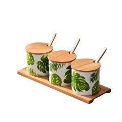 Creative céramique nordique Jar Jar Set Ustensiles de cuisine des ménages de sel défini