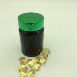 Negro 30 ml de HDPE /Pet/PS Cápsulas suplemento de la botella de plástico de embalaje del producto