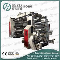 Quatre couleur à haute vitesse automatique Machine d'impression flexo série graphique