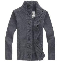 Pullover tricoté Crochet Cardigan pour l'homme col polo