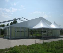 خيمة زفاف بيضاء مصنوعة من مادة PVC (الدائرة الظاهرية الدائمة) خيام عازلة للماء في الهواء الطلق بالجملة